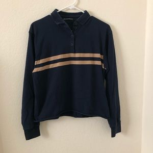 brandy melville navy blue jonny top